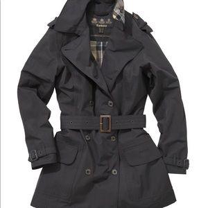 Barbour Valerie Trench Coat - Navy